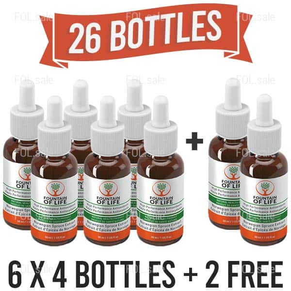 fountain of life antioxidant drops 24 plus 2 bottles pack